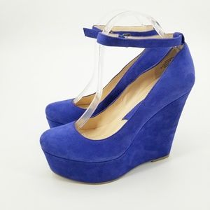 Boutique 9 Nine Cesena Suede Platform Wedges